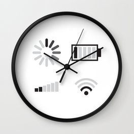 Low battery, low signal Wall Clock