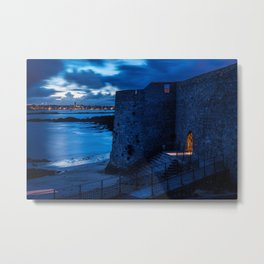 France Fortress Port-Louis Brittany Stairs Coast Evening Cities Fortification stairway staircase Metal Print