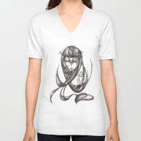 ace V-neck T-shirts featuring Ace by Kaoru Ishida