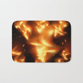 Tongues of flame background Bath Mat