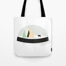 Snow covered tracks Tote Bag
