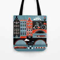 amsterdam Tote Bags featuring Amsterdam by koivo