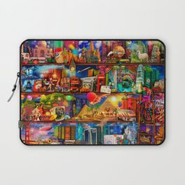 World Traveler Book Shelf Laptop Sleeve