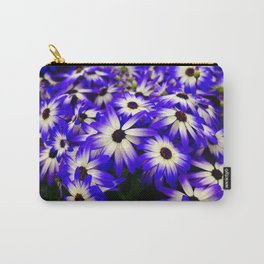 Blue white flowers Carry-All Pouch