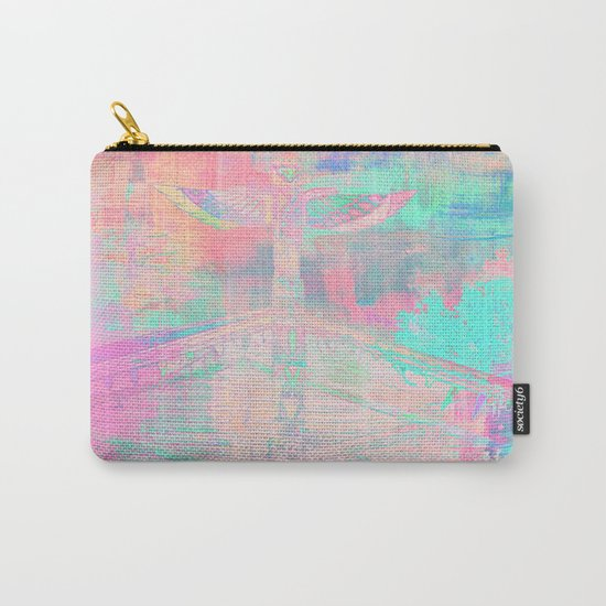 Totem Cabin Abstract - Pastel Carry-All Pouch