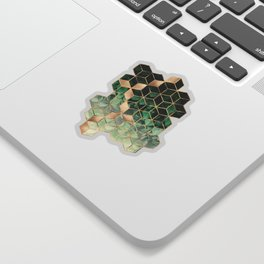 Leaves And Cubes Sticker