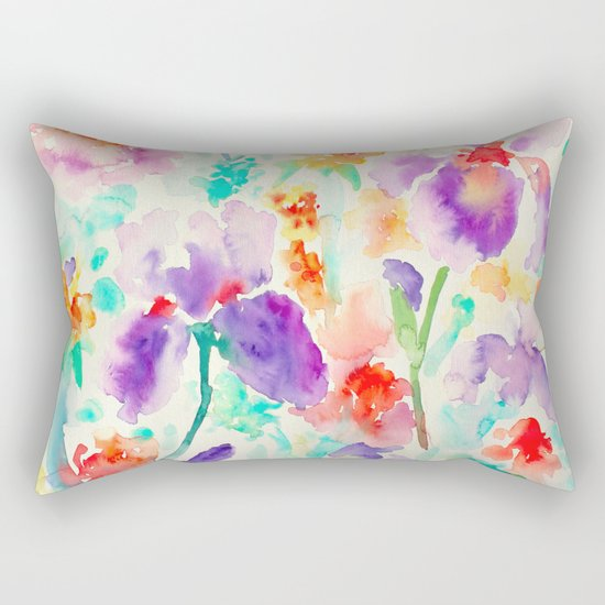 Abstract Flowers 03 Rectangular Pillow