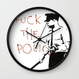 Banksy F*ck the Police Artwork Reproduction for Prints Posters Tshirts Men Women Kids Wall Clock