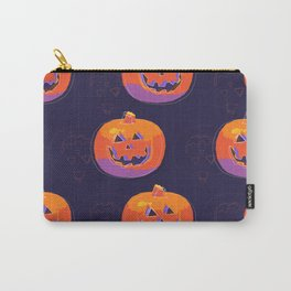 pumpkin with halloween Carry-All Pouch