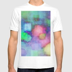 WaterColor#2 Mens Fitted Tee White MEDIUM