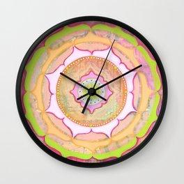Pink Lotus Mandala Wall Clock