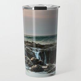 Thor's Well Sunset Travel Mug