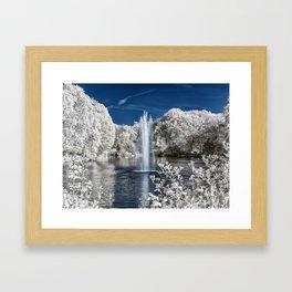 Fountain in Infrared Framed Art Print