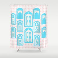 casablanca Shower Curtains featuring Cazablanca by Fatima Design Studio