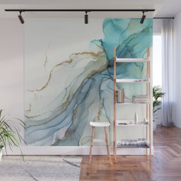Abstract Jellyfish Alcohol Ink Painting Wall Mural