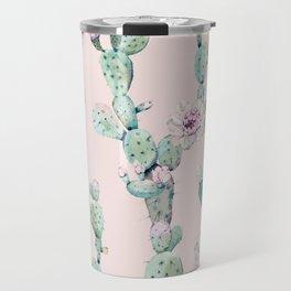 Cactus Rose Pattern on Pink Travel Mug