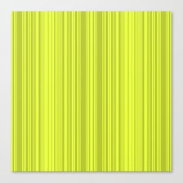 Lemon green striped pattern. Canvas Print