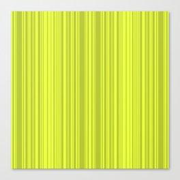Lemon green striped pattern. Canvas Print