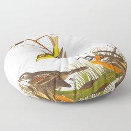Arkansaw Siskin Bird Floor Pillow