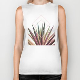 Tropical Desire - Foliage and geometry Biker Tank