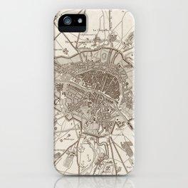 Vintage Map of Paris France (1805) iPhone Case