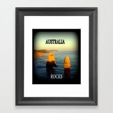Australia Rocks Framed Art Print