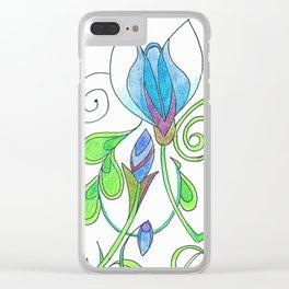 Flower Freize Clear iPhone Case