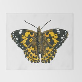 Painted lady butterfly Throw Blanket