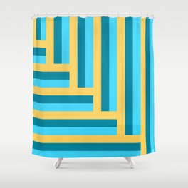 Colorful line arrow pattern. Shower Curtain