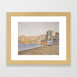 The Town Beach, Collioure, opus 165 Framed Art Print