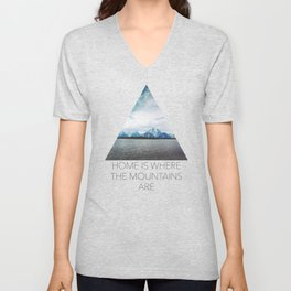 Dreaming of Mountains and Sky Unisex V-Neck