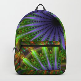 Mandala of happiness, fractal abstract Backpack