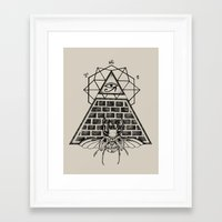 pyramid Framed Art Prints featuring Pyramid by alesaenzart