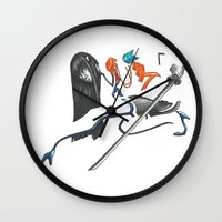 kill la kill Wall Clocks featuring Kill La Kill Satsuki by Papan Seniman