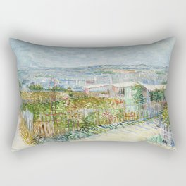 Vegetable Gardens at Montmartre by Vincent van Gogh Rectangular Pillow