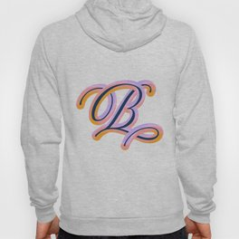 Vintage Feel. Colourful and Playful Letters B Hoody