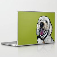 kermit Laptop & iPad Skins featuring Kermit the labradoodle by Pawblo Picasso