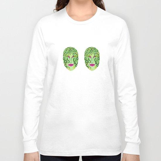 green visage Long Sleeve T-shirt