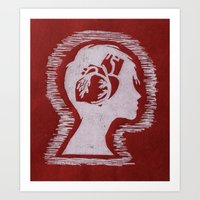 Think with your Heart Art Print