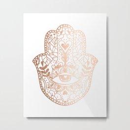 Copper Hamsa Hand Metal Print