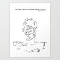 dinner date Art Print