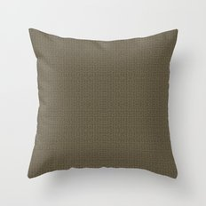 Squircles in beige Throw Pillow
