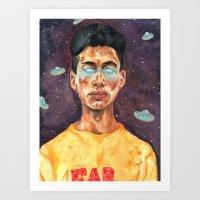 Space Donuts Art Print
