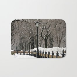 Central Park in Winter Bath Mat