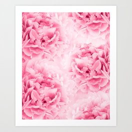 Light Red Peonies Dream #1 #floral #decor #art #society6 Art Print
