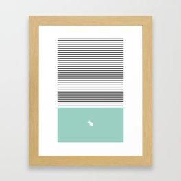 Line Edition blue Framed Art Print