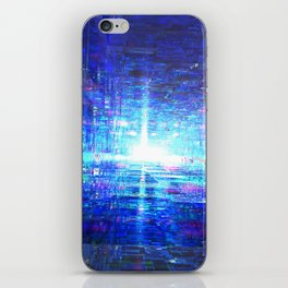 Blue Reflecting Tunnel iPhone Skin