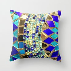 mosaic and beads [photograph] Throw Pillow