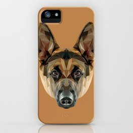 German Shepherd // Natural  iPhone Case