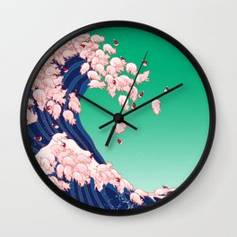 Christmas Baby Pigs The Great Wave Wall Clock